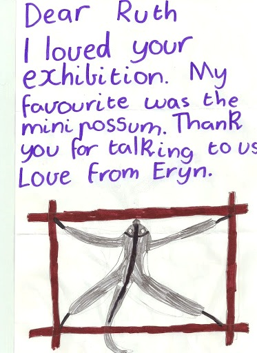 letter from a young gallery guest